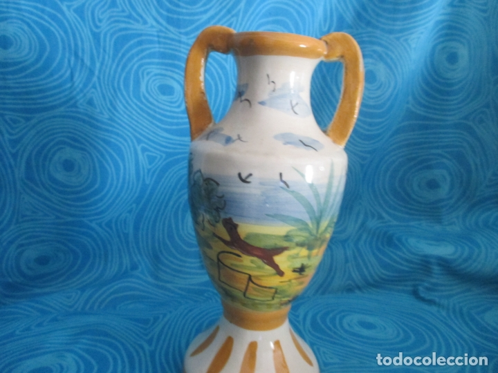 ANTIGUA JARRA O JARRON, 21 CM ALTO (Antigüedades - Porcelanas y Cerámicas - Otras)