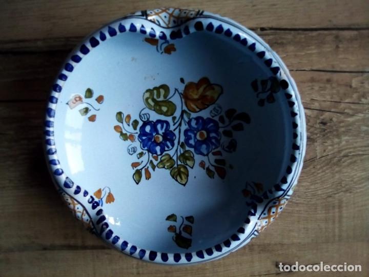 PLATO-CENICERO TALAVERA (Antigüedades - Porcelanas y Cerámicas - Talavera)