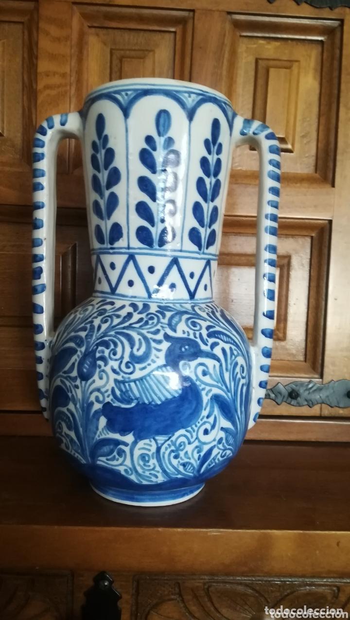 Antigüedades: Antigua jarra de cerámica de Talavera, Ruiz de Luna - Foto 2 - 172406659