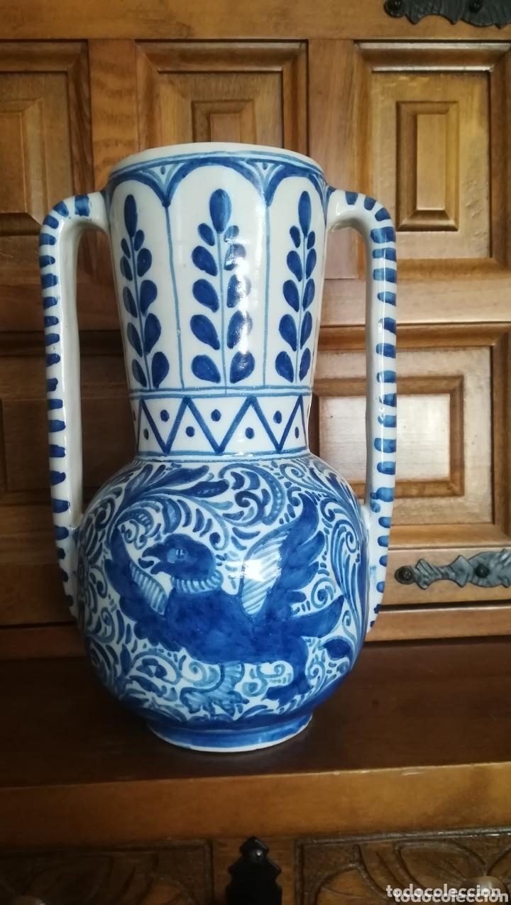 ANTIGUA JARRA DE CERÁMICA DE TALAVERA, RUIZ DE LUNA (Antigüedades - Porcelanas y Cerámicas - Talavera)