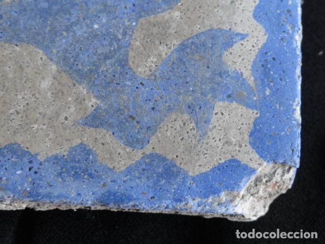 Antigüedades: BONITO AZULEJO BALDOSA RAJOLA DECORADA - GALLO -. - Foto 2 - 172410762