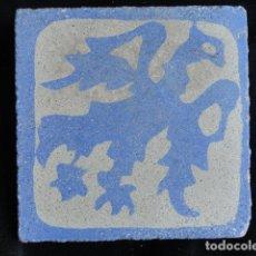 Antigüedades: BONITO AZULEJO BALDOSA RAJOLA DECORADA - AGUILA -.. Lote 172411378