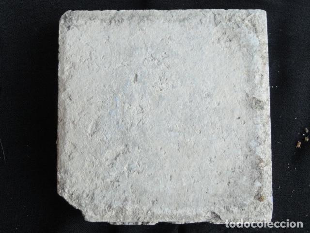 Antigüedades: BONITO AZULEJO BALDOSA RAJOLA DECORADA - ÁGUILA -. - Foto 3 - 172412063