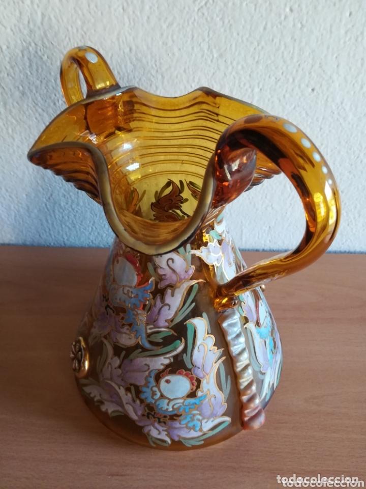 Antigüedades: Antiguo jarrón firmado Cirera cristal soplado pintado a mano - Vidrio catalán - Foto 9 - 172412853
