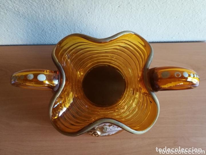 Antigüedades: Antiguo jarrón firmado Cirera cristal soplado pintado a mano - Vidrio catalán - Foto 22 - 172412853