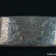 Antigüedades: CLARK & SEWELL BIRMINGHAM AÑOS 1901 TARJETERO PLATA DE LEY PUNZONADA. Lote 172419734