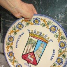 Antigüedades: GRAN PLATO DE COLGAR PARED GRANDIOSA PINTURA ANTIGUA ORIGINAL FIRMADO. Lote 172459397