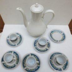 Antigüedades: JUEGO DE CAFE MADE IN CHINA MAS TETERA SIN MARCA -. Lote 172465093