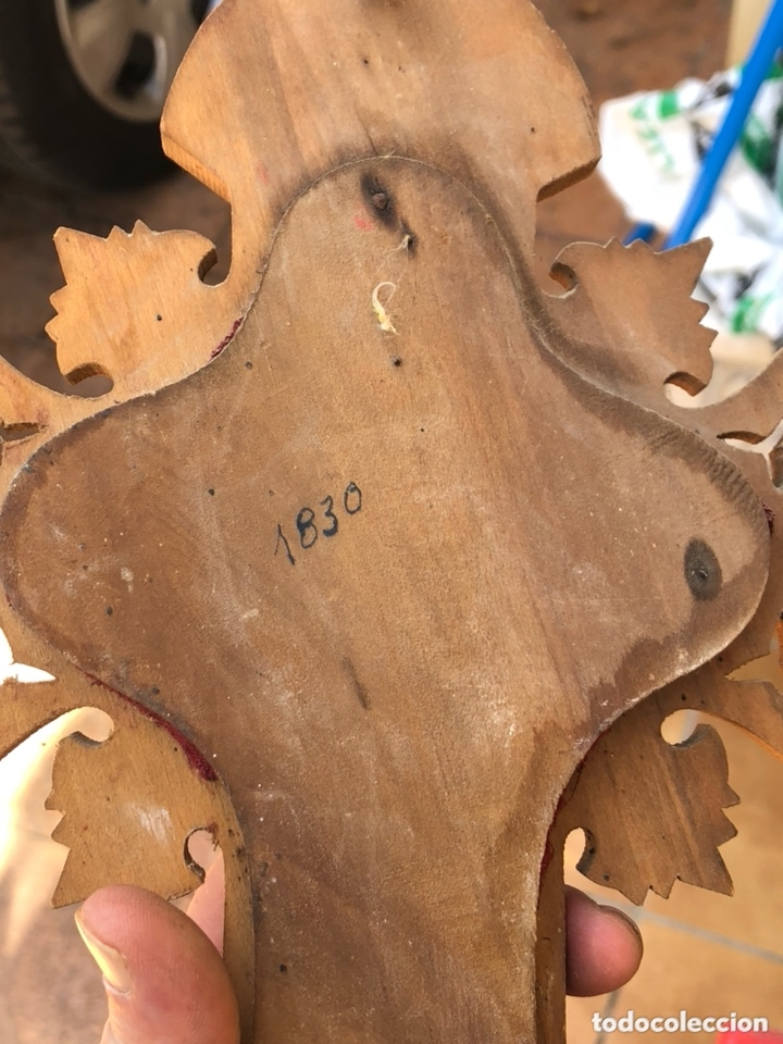 Antigüedades: Bonita benditera principio del siglo XIX - Foto 9 - 172472254