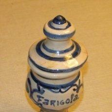 Antigüedades: ALBARELO DE FARIGOLA (TOMILLO) DE LA FARMACIA ESTEVA- LLIVIA . Lote 172474895