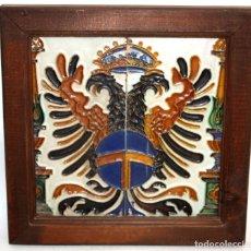 Antigüedades: PAREJA DE AZULEJOS DE PICKMAN - LA CARTUJA DE SEVILLA - CON CUÑO EN EL REVERSO. Lote 172482314