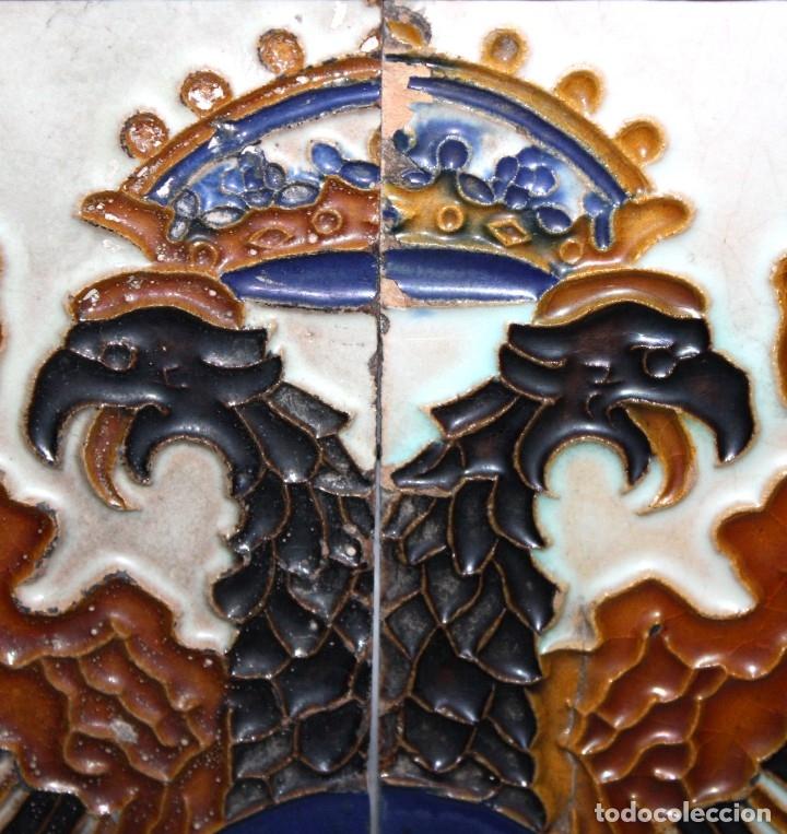 Antigüedades: PAREJA DE AZULEJOS DE PICKMAN - LA CARTUJA DE SEVILLA - CON CUÑO EN EL REVERSO - Foto 3 - 172482314