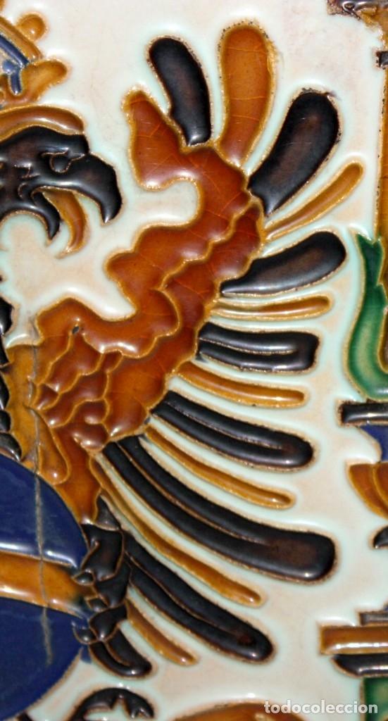Antigüedades: PAREJA DE AZULEJOS DE PICKMAN - LA CARTUJA DE SEVILLA - CON CUÑO EN EL REVERSO - Foto 5 - 172482314