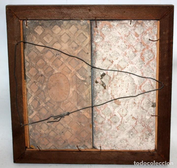 Antigüedades: PAREJA DE AZULEJOS DE PICKMAN - LA CARTUJA DE SEVILLA - CON CUÑO EN EL REVERSO - Foto 7 - 172482314