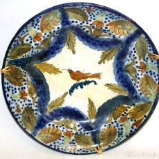 Antigüedades: ANTIGUO PLATO DE RIBESALBES DEL SIGLO XIX. MARCAS EN LA BASE. MANISES. Lote 172486059