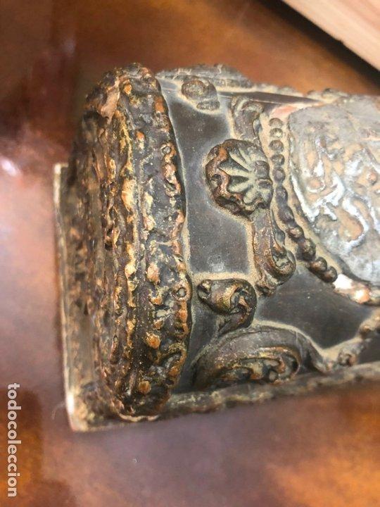 Antigüedades: ANTIGUO JOYERO COFRE REALIZADO EN MADERA SIGLO XIX - MEDIDA 20X11,5X11 CM - Foto 5 - 172521707