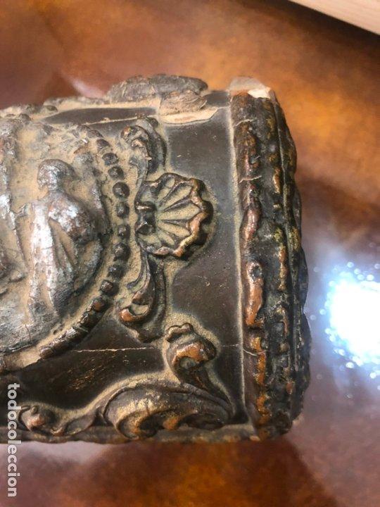 Antigüedades: ANTIGUO JOYERO COFRE REALIZADO EN MADERA SIGLO XIX - MEDIDA 20X11,5X11 CM - Foto 6 - 172521707
