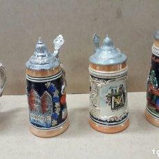 Antigüedades: 4 JARRAS CERVEZA ALEMANAS AÑOS 60 ENVIO INCLUIDO. Lote 172530822