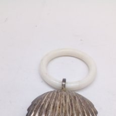 Antigüedades: SONAJERO DE PLATA ANTIGUO. Lote 172550108