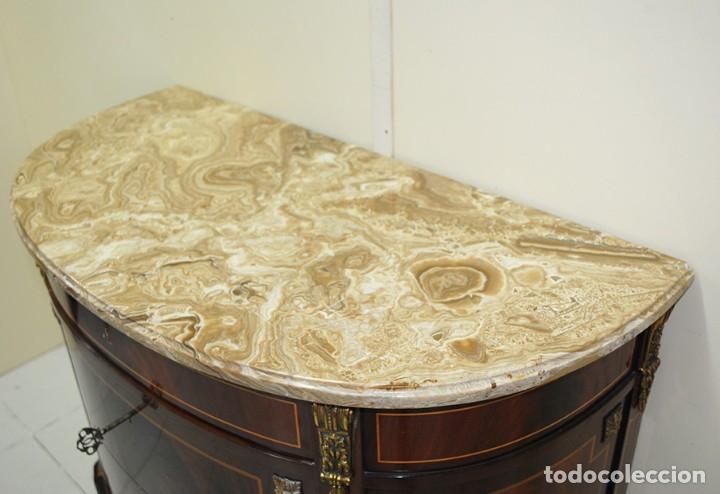 Antigüedades: CÓMODA DE CAOBA Y MARQUETERÍA - Foto 5 - 172558599