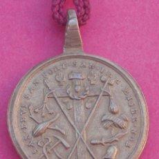 Antigüedades: PRECIOSA MEDALLA SIGLO XVIII ARBOL DE LA CRUZ. SÍMBOLOS DE LA PASIÓN DE CRISTO.. Lote 172580062