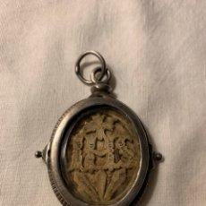 Antigüedades: FABULOSO RELICARIO DE PLATA SXVIII. Lote 172581020