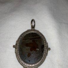 Antigüedades: FABULOSO RELICARIO DE PLATA SXVIII. Lote 172581195
