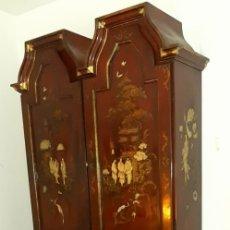 Antigüedades: CANTERANO LACADO ESTILO CHINO PROFUNDAMENTE DECORADO AÑOS 70. Lote 172581500