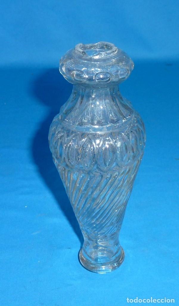 Antigüedades: Repuesto para lampara de cristal antigua. Parte central.18.5 x 7 cm. - Foto 5 - 172582714