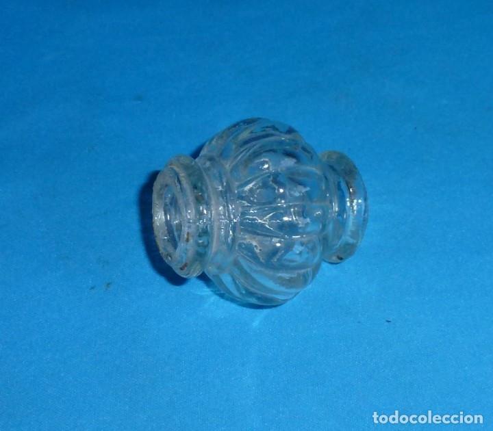Antigüedades: Repuesto,nudo para lampara de cristal antigua. 5 x 5.5 cm. - Foto 3 - 172582922