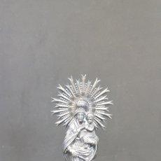 Antigüedades: FIGURA METAL VIRGEN DEL PILAR - 16 CM DE ALTURA - CAR153. Lote 172583638