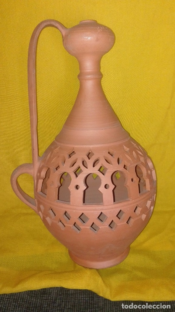PRECIOSO JARRÓN ÁRABE. (Antigüedades - Hogar y Decoración - Jarrones Antiguos)