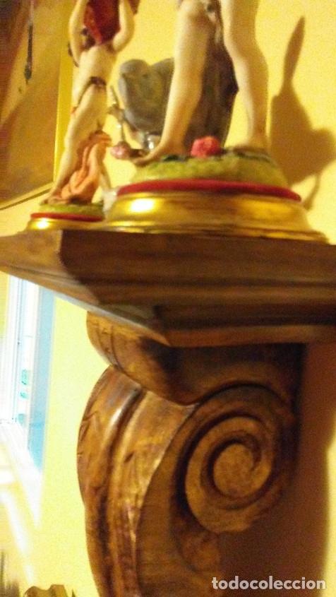 Antigüedades: MÉNSULA DE MADERA TALLADA - Foto 5 - 172586482