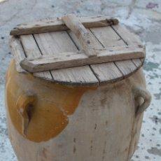 Antigüedades: ORZA ANTIGUA DE BARRO VIDRIADO. Lote 172604753