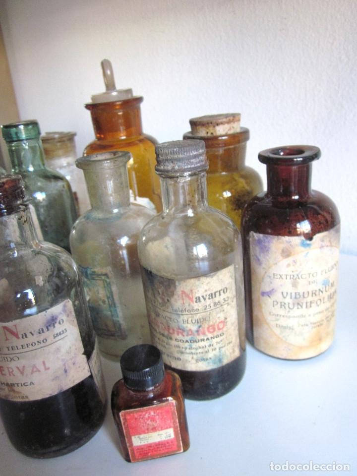 Antigüedades: Excelente lote 17 frascos antiguos cristal farmacia botica y barrita Brull principios siglo XX - Foto 7 - 172614105