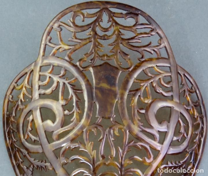 Antigüedades: Peina peineta en celuloide calado años 40 - Foto 2 - 172615030