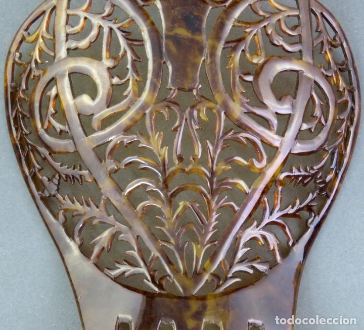Antigüedades: Peina peineta en celuloide calado años 40 - Foto 3 - 172615030