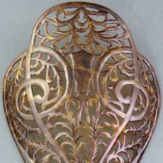 Antigüedades: PEINA PEINETA EN CELULOIDE CALADO AÑOS 40. Lote 172615030