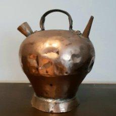 Antigüedades: BOTIJO, CANTARO O CANTIR EN CATALAN DE COBRE. Lote 172619354