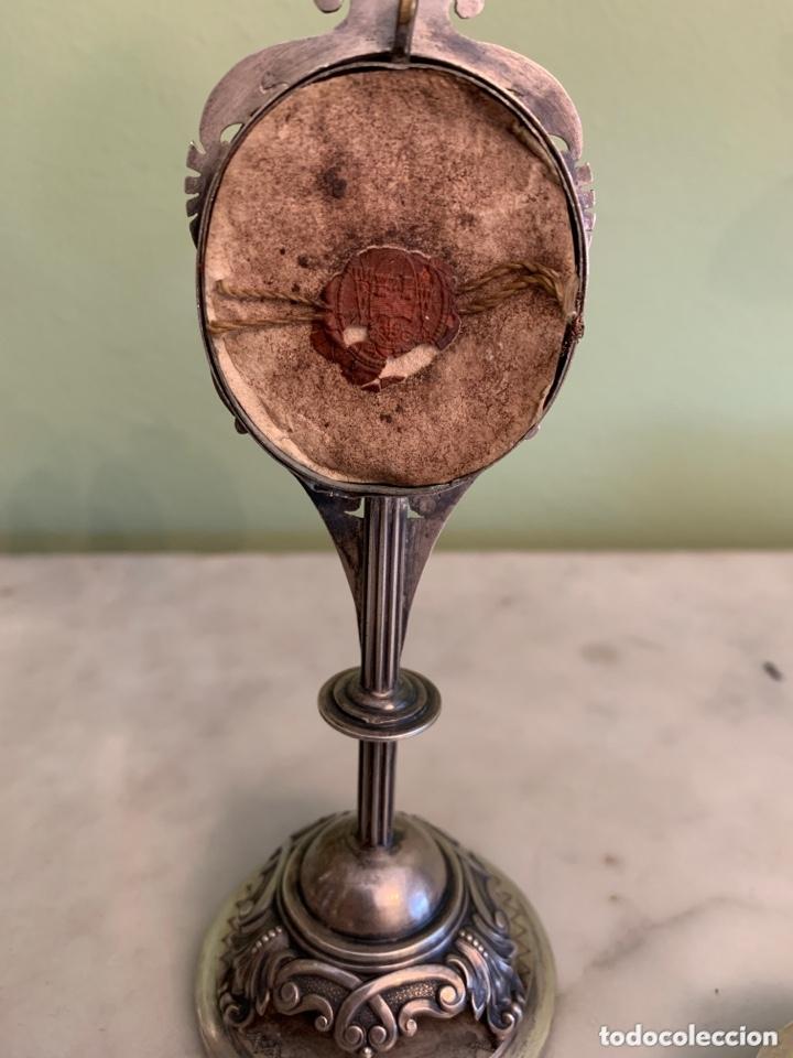 Antigüedades: Fabulosa custodia relicario SXVIII - Foto 3 - 172621875