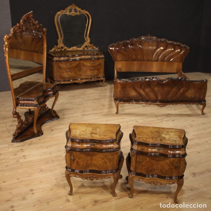 Antigüedades: Cómoda italiana con espejo en madera - Foto 2 - 172629017