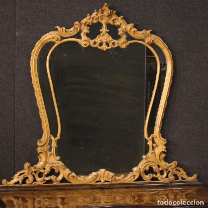 Antigüedades: Cómoda italiana con espejo en madera - Foto 3 - 172629017