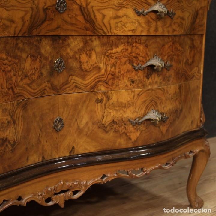 Antigüedades: Cómoda italiana con espejo en madera - Foto 6 - 172629017