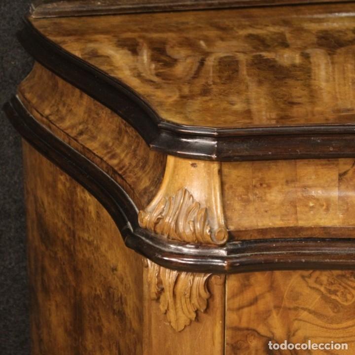 Antigüedades: Cómoda italiana con espejo en madera - Foto 7 - 172629017