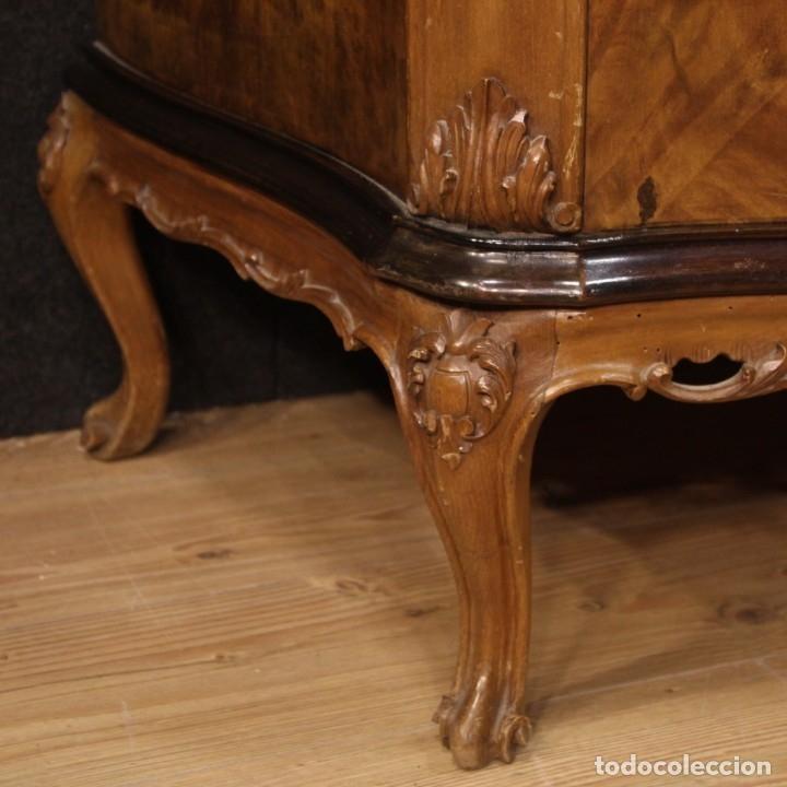 Antigüedades: Cómoda italiana con espejo en madera - Foto 9 - 172629017