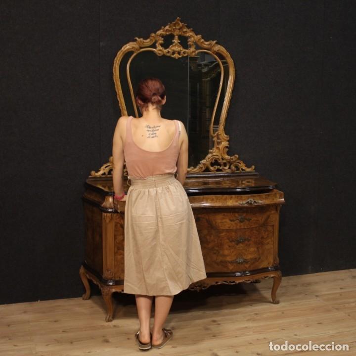Antigüedades: Cómoda italiana con espejo en madera - Foto 11 - 172629017