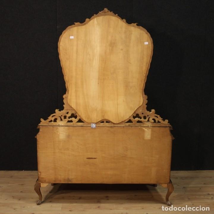 Antigüedades: Cómoda italiana con espejo en madera - Foto 12 - 172629017