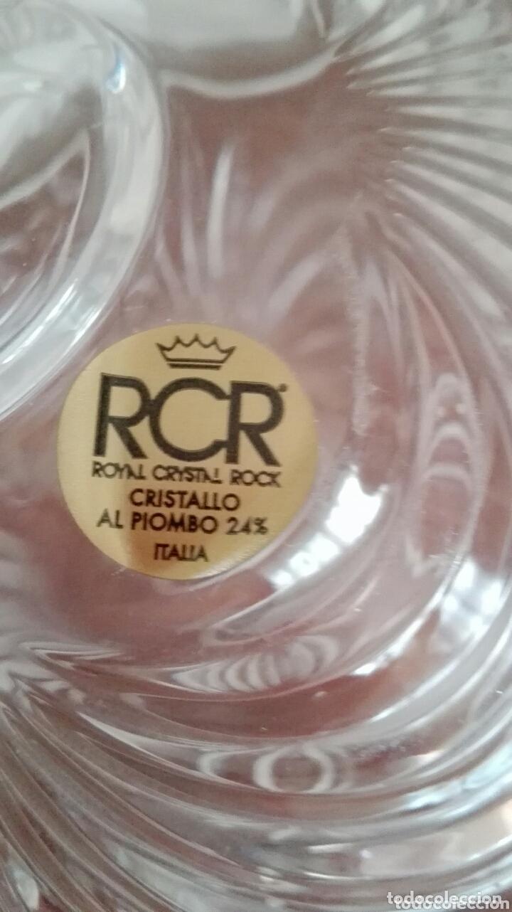Antigüedades: Bombonera de cristal Royal, con 24% de plomo y asidero de plata - Foto 3 - 172633868