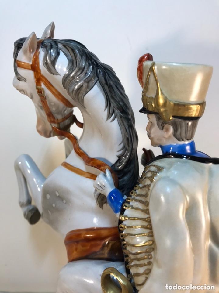 Antigüedades: Figura Porcelana- Álvarez- Jinete Caballo Rampante- 30 cm - Foto 40 - 172636234