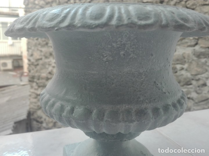 Antigüedades: Pareja de copas tipo Medici. Hierro colado - Foto 6 - 172641360